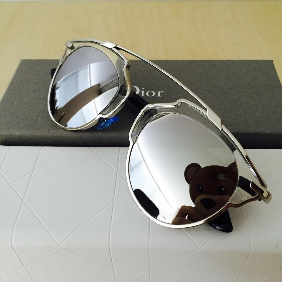 2837ae53f294 Dior So Real 48mm Silver Mirrored Sunglasses Palladium Crystal Image 6.  1234567