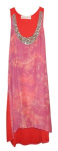 Graham & Spencer short dress Pink and Orange Embellished Tie Dye on Tradesy
