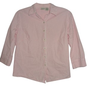 L.L.Bean Top PINK & WHITE STRIPES