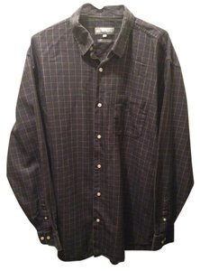 Hickey Freeman Button Down Shirt Navy blue