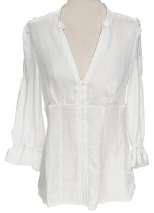Romeo & Juliet Couture Longsleeve Sheer Top White