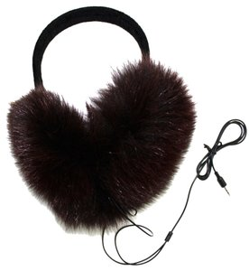 La Fiorentina La Fiorentina Velvet Covered Halo with Real Brown Fox Covers Tech Earmuff