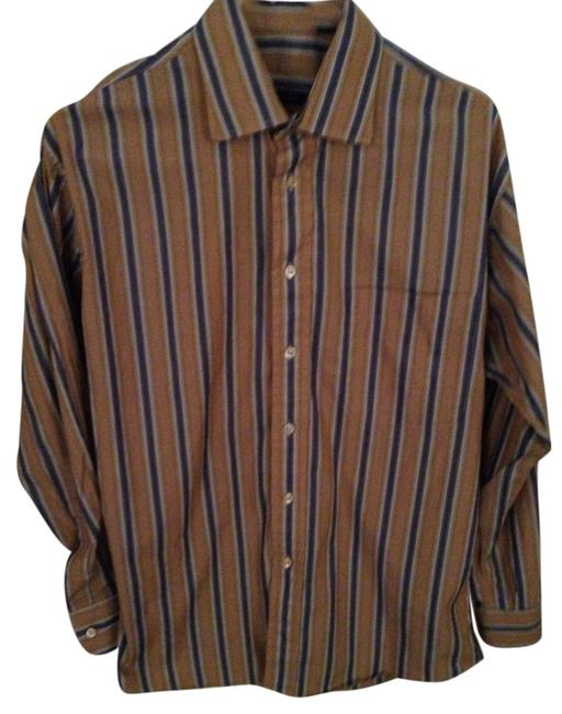 Preload https://item1.tradesy.com/images/burberry-gold-london-mens-small-blue-striped-dress-shirt-button-down-top-size-6-s-5075680-0-0.jpg?width=400&height=650