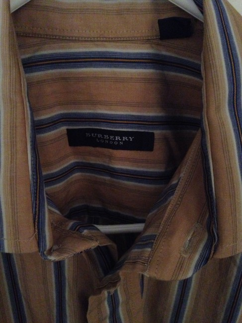 Burberry Button Down Shirt Gold Image 1