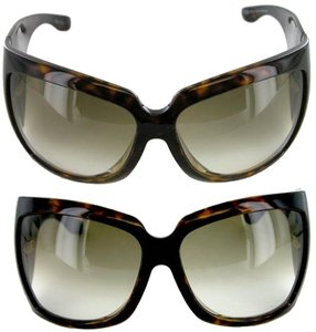 Gucci Gucci Square Havana Oversized Sunglasses