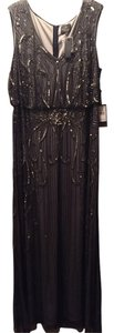 Adrianna Papell Beaded Flowy Full Length Dress