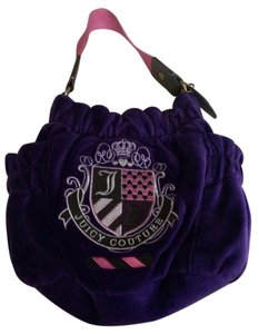 Juicy Couture Velour Pink Shoulder Bag