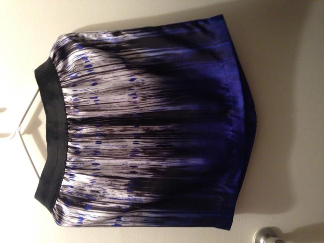 Kenneth Cole Mini Skirt Blue black