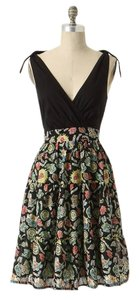 Anthropologie short dress Polynesia Travelogue Print Island Side Pockets Swing Feminine Cotton on Tradesy