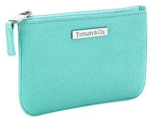 Tiffany & Co. Tiffany & Co Blue Leather Flat Pouch / coins bag
