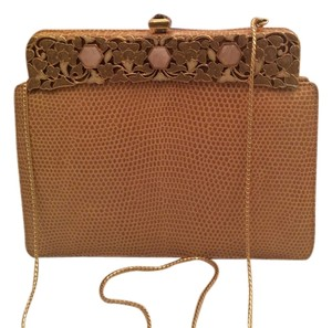 Judith Leiber Tan Clutch