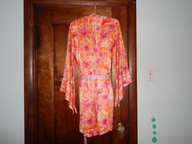 Valerie Stevens Silk Pajama Set Lounge Flower Polka Dot Dress