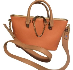 Chloé Satchel in Tan/coral