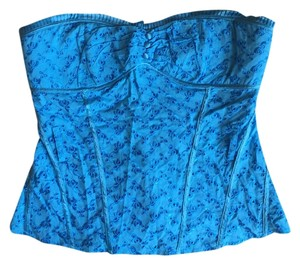 bebe Blue Halter Top