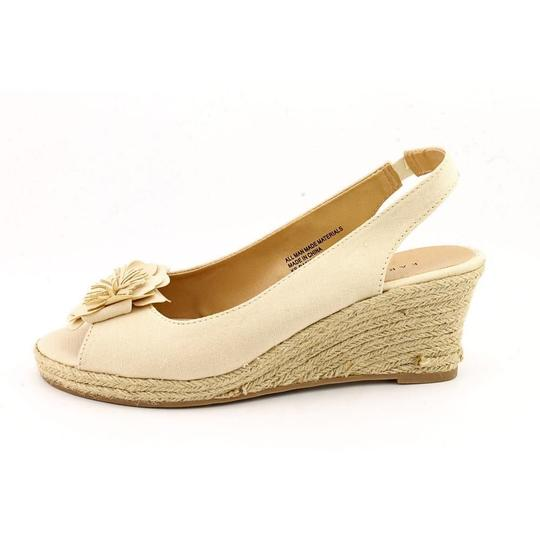 Karen Scott Wedge Sling Backs beige Sandals