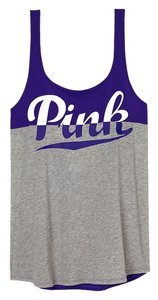 PINK Open Back Muscle Top Grey/Indigo