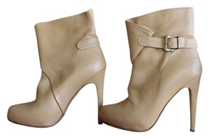 Charles David Ankle Nude Leather Boots