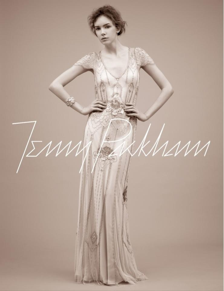 Jenny Packham Ivory Eden Wedding Dress Size 4 (S) - Tradesy