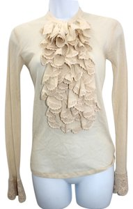 Ralph Lauren Black Label Ruffles Cotton Top