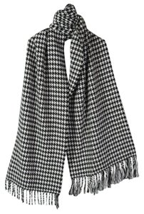 Scarf Black White Houndstooth Cashmere Feel 100% Acrylic