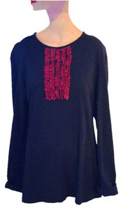 Burberry Tee Blouse Tee T Shirt Italian Ruffled Bib Tee-Shirt | * Night Shirt *