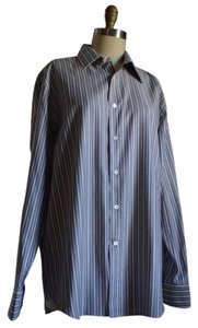Canari Mens Shirt Button Down Shirt Blue