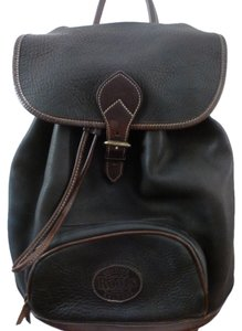 Roots Drawstring Leather Backpack