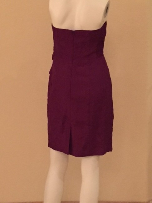 Nanette Lepore short dress Burgundy Tie Strapless Cocktail Gifts For Her on Tradesy