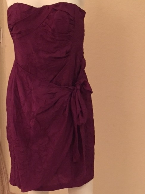 Nanette Lepore short dress Burgundy Tie Strapless Cocktail Gifts For Her on Tradesy Image 3