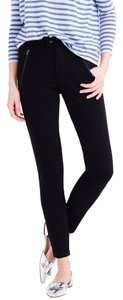 J.Crew Pixie Snap Front Legging Pockets Zip Skinny Pants Black