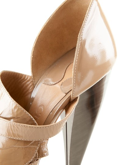 Chloé Patent Leather Luxury Stiletto Evening Taupe Platforms Image 2