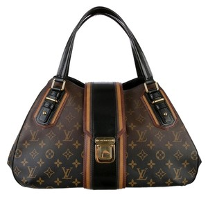Louis Vuitton Griet Limited Satchel in Monogram Noir Mirage Canvas
