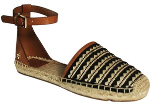 Tory Burch NATURAL BLACK ROYAL TAN Sandals