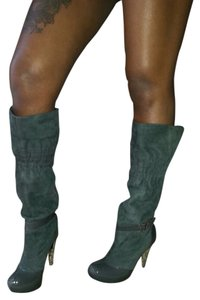Report Signature Suede Patent Leather gray Boots