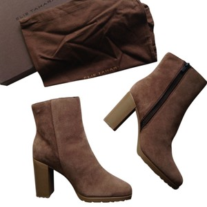 Elie Tahari Shearling tan brown Boots