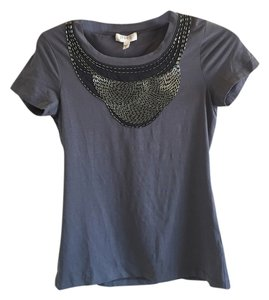 bebe Studded T Shirt Grey