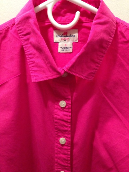 J.Crew Button Down Shirt Bright pink