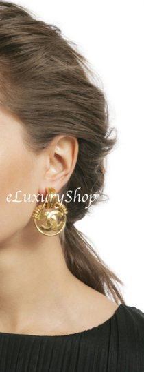 Chanel Authentic Vintage CHANEL CC Logo Large Earrings