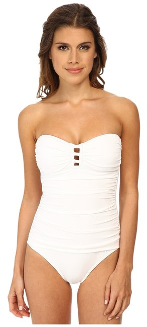 Tommy Bahama Tommy Bahama Pearl Bandeau One-Piece with Center Strings White Size 6