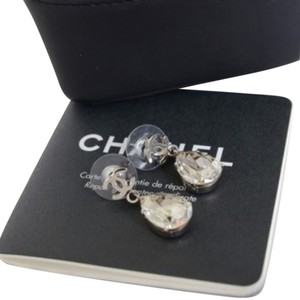 Chanel Authentic Chanel Teardrop Crystal Earrings