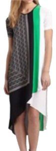 Green, black, white Maxi Dress by BCBGMAXAZRIA