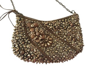 Mary Frances Gold/bronze Clutch