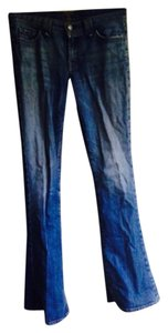 7 For All Mankind Seven Distressed Boot Cut Jeans