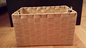 Joann's Fabric Light Brown Woven Rectangle Basket Ceremony Decoration