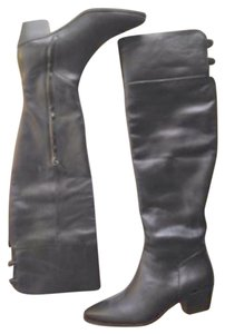 Elie Tahari Leather Over The Knee Otk NEW black Boots