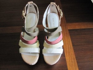 Multicolor Wedge Heel Buckle Nwbraxton Sandals Pumps 6m