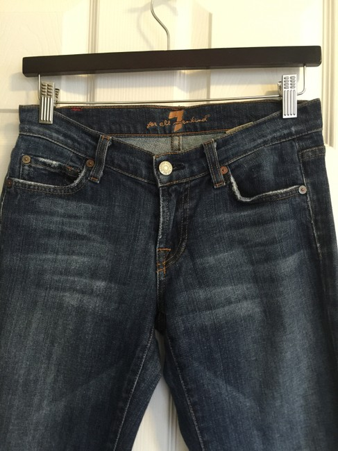 7 For All Mankind Boot Cut Jeans-Dark Rinse Image 5