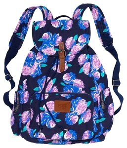 PINK Victoria's Secret Navy Floral Backpack