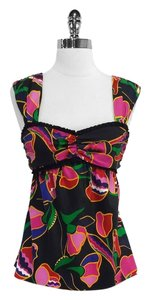 Marc Jacobs Floral Print Silk Sleeveless Top