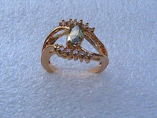 Other 14k Yellow Gold Filled Peridot & White Topaz Ring Image 1